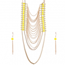 Wholesale Layered chain long necklace set GGR