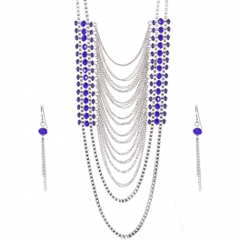 Wholesale Layered chain long necklace set RBL