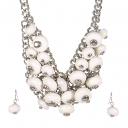 Wholesale Bead cluster necklace set RWT
