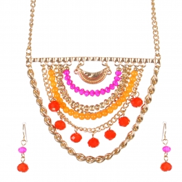 Wholesale Layered bead necklace set GFU
