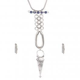 Wholesale Textured metal necklace set SBBL