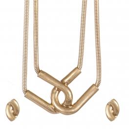 Wholesale Interlocking strand necklace set VG