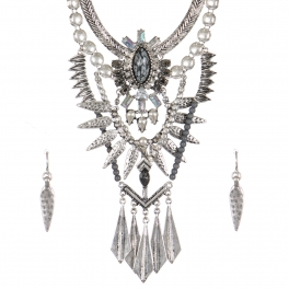 Wholesale Tribal bib necklace set SBGY