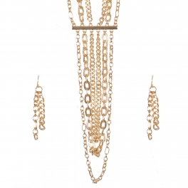 Wholesale Multi chain layered necklace set G