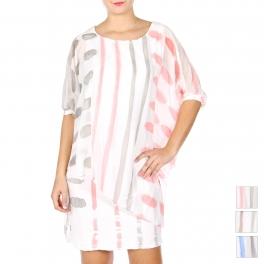 Wholesale S84B Cotton blend sequin embellished dress