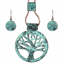 Wholesale WA00 Vintage Tree of Life necklace set OG