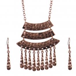 Wholesale WA00 Tiered pendant necklace set COP