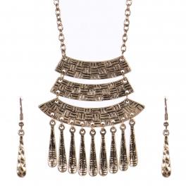 Wholesale WA00 Tiered pendant necklace set RGB