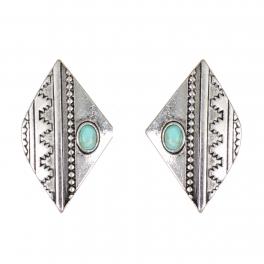 Wholesale WA00 Diamond metal earrings SV