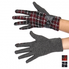 Wholesale Q62D Bow-cuff touch screen gloves