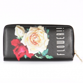 Wholesalse P18C Rose print wallet
