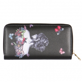 Wholesalse P18C Butterfly girl wallet