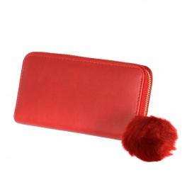 Wholesalse P16C Pom pom wallet Beige