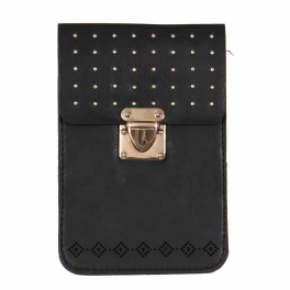 Wholesalse P16A Small stud cell phone bag Black