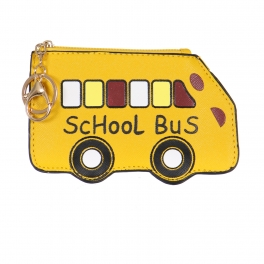 Wholesale O61 School bus keychain/coin purse YE