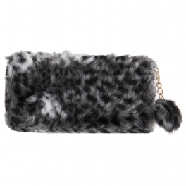Wholesale Y22E Faux fur wallet Gray
