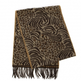 wholesale O63 Cashmere Feel Scarf Mixed animal bronw