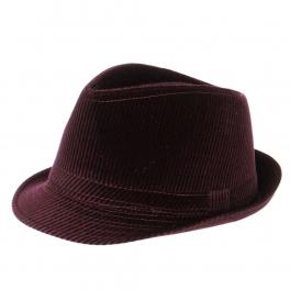 wholesale V63 Solid corduroy fedora hat Purple