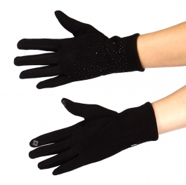 Wholesale T10S Starry night small stud touch screen gloves BK