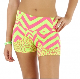 wholesale M34 Lian hot pants Pink/Lime L/XL fashionunic