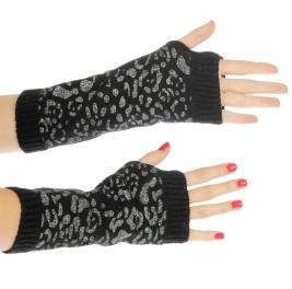 wholesale K04 Leopard hot fix arm warmer Black