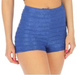 Wholesale K17 Ruffled cotton short pants R.Blue