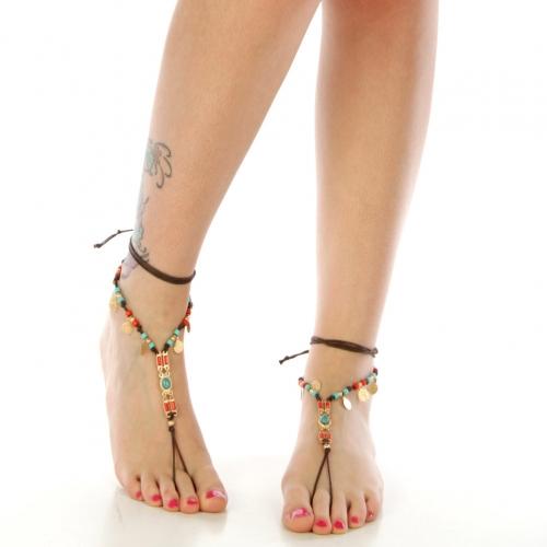 N31 Beaded barefoot wholesale anklet fashionunic