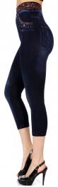wholesale B13A Flower garden denim-print capri leggings