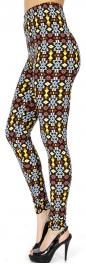 Wholesale Q231E Tribal triangles print softbrush leggings