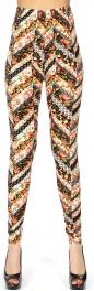 Wholesale Q85B Floral chevron print softbrush leggings