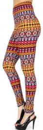 Wholesale Q85B Abstract aztec print Leggings