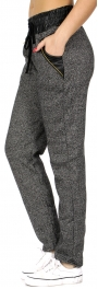 wholesale G21 Fleece lined jogger pants Grey Plus Size