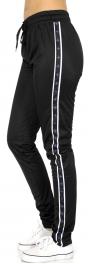 Wholesale B04D Stripes & plus trim jogger pants BL