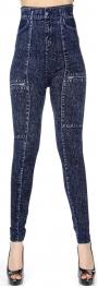{[en]:Wholesale C40 Denim printed leggings Pattern