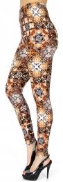 Wholesale Q01B Abstract diamond print Leggings
