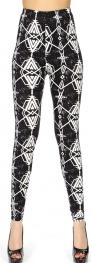 Wholesale Q21C Rustic tribal print softbrush leggings
