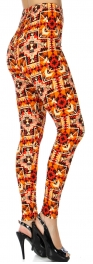 Wholesale T69A NEW MIX soft brushed leggings Tribal Arrow