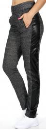 Wholesale E04 Side patch long cotton jogger pants Black