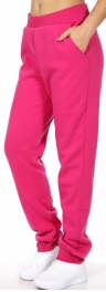 wholesale R35 Solid fleece lined track pants Jetblack