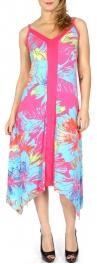 Wholesale H39D Watercolor flower sidetail dress Black