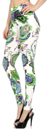 wholesale A03 Solstice Paisley and Flowers leggings
