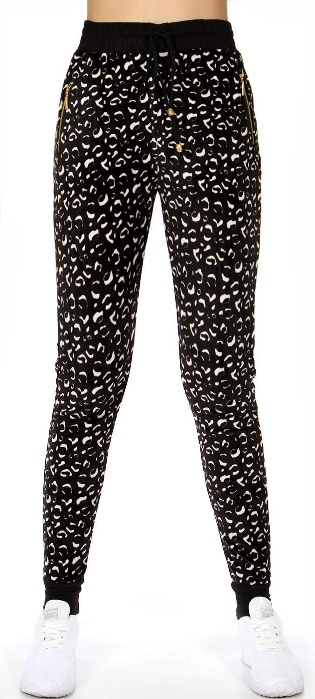 C21 Abstract ANIMAL pockets velour jogger pants