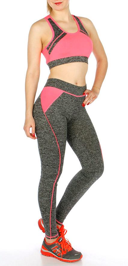 K57 Heather Yoga Leggings and BRA Set