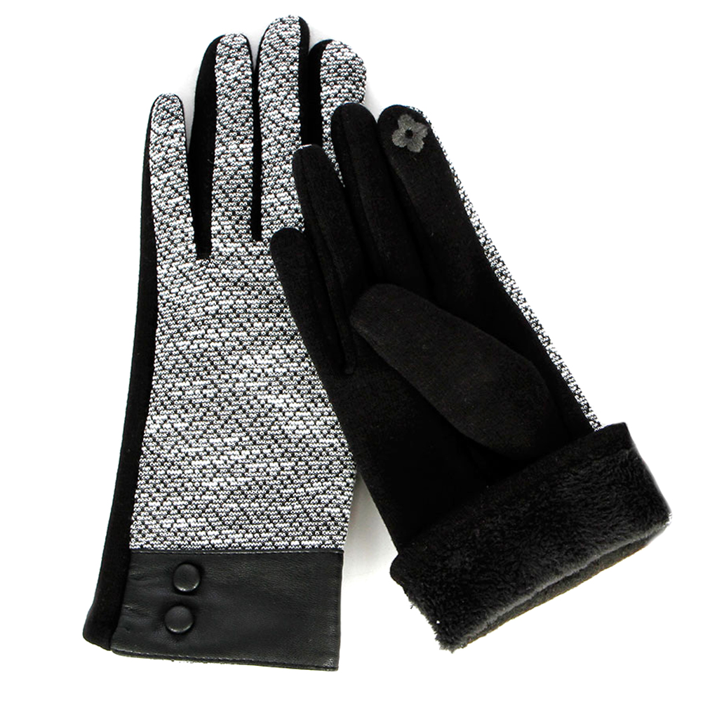 Faux LEATHER Wrist Touch Screen GLOVES