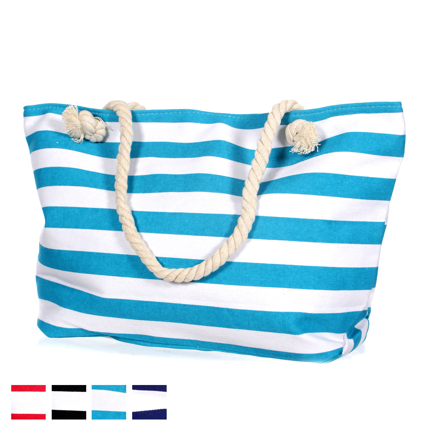 ''Striped canvas BEACH BAG (21 X 6 X 12'''')''