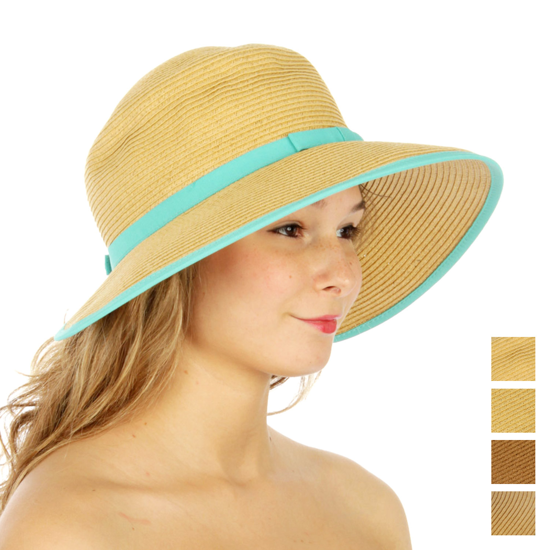 V01 Color block STRAW HAT