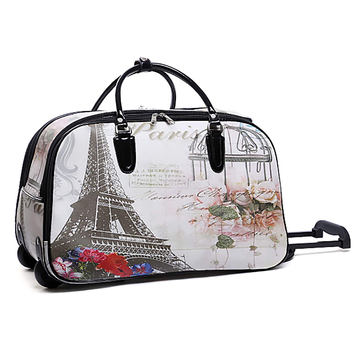 180ef4030c1e Wholesale P26 Rolling duffle bag Eiffel Tower w  Roses