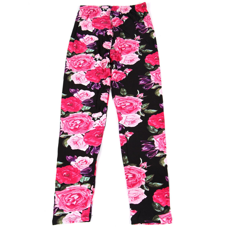NEW MIX Girls print LEGGINGS ROSE