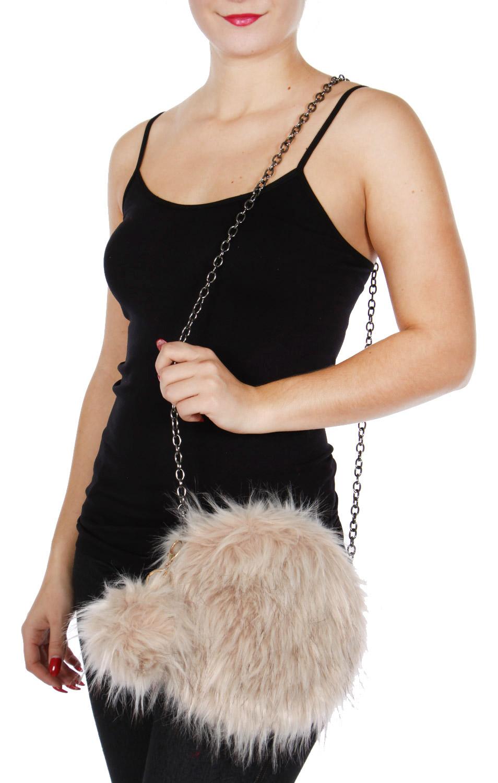 7a164f814c wholesale Y20D Round faux fur clutch bag fashionUnic