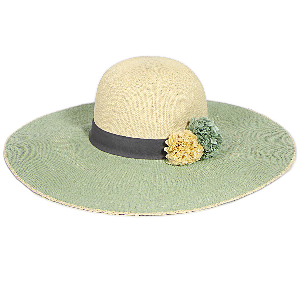 262c1551f360a1 Wholesale U35B Two tone pom pom floppy hat